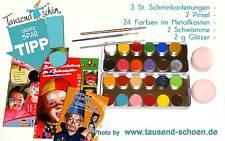 Eulenspiegel Schminkfarben Set, 24 er, Karneval, Fasching, Kinderschminke