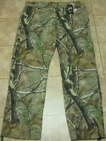 Men UNDER ARMOUR All Season Camo Real Tree camouflage Hunting Pants jean 44 x 34