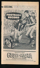 1969 VFL Football Record Geelong v Richmond June 21 Cats Tigers