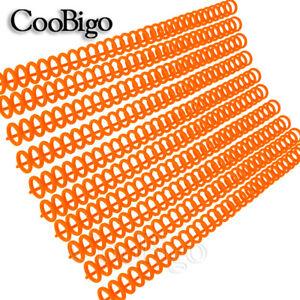 2PCS 30 Holes Plastic Loose-leaf Paper Album Binder Binding Accessories