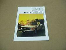 1976 Volvo 240-series 242 244 DL sedan coupe sales brochure dealer literature