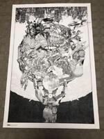 KATSUHIRO OTOMO GENGA FIRE BALL POSTER B1 size ART JAPAN COMIC ANIME MANGA