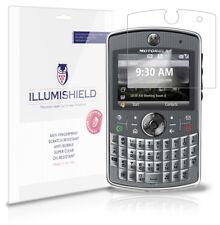 iLLumiShield Phone Screen Protector w Anti-Bubble/Print 3x for Motorola Q9h