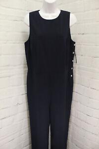 LAUREN Ralph Lauren Selia Jumpsuit, Women's Size 14, Navy NEW