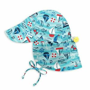 i play. by green sprouts Baby & Toddler Flap Sun Protection Hat | All-day UPF