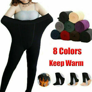 Women's Ladies Winter Warm Fleece Lined Thick Thermal Full Foot Tights Pants Hot