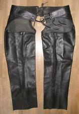 Chaps CUIR HOMME MOTO NERI IN PELLE CHAPS Pantaloni Leather Chaps//gambali