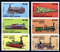 Mauretanien MiNr. 704-09 geschnitten postfrisch MNH Eisenbahn Lokomotive (Eis72