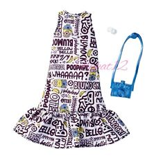Barbie Despicable Me Minion White Ruffle Bottom Dress Deluxe Fashion Pack