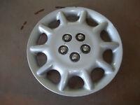 "2000 00 Chrysler Sebring Hubcap Rim Wheel Cover Hub Cap 15"" OEM USED 538B SILVER"