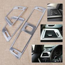 3pcs For BMW 3 Series F30 Chrome Dashboard Air Vent Cover Trim 2013-2015