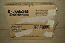 ^^ CANON MICROGRAPHICS 190RII FICHE CARRIER - NEW (IC77)