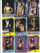 LITA * Set of 9 * WWE ABSOLUTE DIVAS TRADING CARDS *No Duplicates