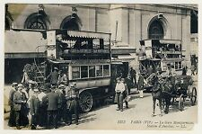 France PARIS Gare Montparnasse / Autobus Bus Station * AK um 1910