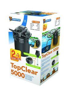 SuperFish TopClear Druckfilter mit UVC Lampe Teichfilter Modelle5000,10000,15000
