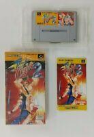 FINAL FIGHT 2  Nintendo Super Famicom with box Japanese SFC SNES Japan USED