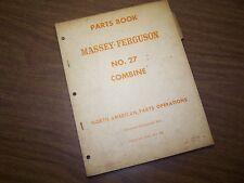 Original Mf No 27 Combine Massey Ferguson Factory Parts Book Manual Catalog