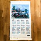2001 vintage calendar south american tapestry wall decor hanging art