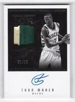 2016-17 Thon Maher #/99 Auto Patch Panini Noir Rookie Milwaukee Bucks