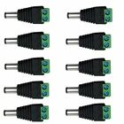 10 Pcs Male 5.5x2.1mm DC Power Plug Jack Adapter Connector For CCTV Camera LED