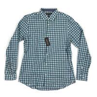 Michael Kors Mens Button Shirt Slim Fit Roll Sleeve Green Plaid Variety Sizes