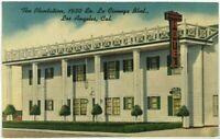 The Plantation Hotel La Cienega Boulevard Los Angeles California CA Postcard