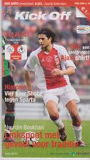 Programme / Programma Ajax Amsterdam v Sparta Rotterdam 05-03-2006