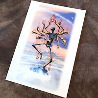 """Destruction"" - 2006 Skeleton Art Print Poster Giclee - Signed by B.Woodruff"