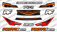 CUSTOM RC BODY HEADLIGHT GRILL STICKER DECAL SET PROTOFORM P47-N 1/10 ORANGE