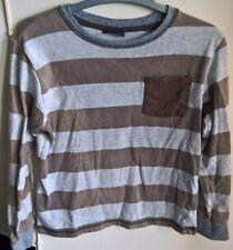 NEXT: Top, longsleeve, brown/grey striped, 8 years, 128 cm height