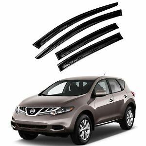 For 2009-2014 Nissan Murano 4pcs Smoke Acrylic Window Sun Rain Visors Wind Guard