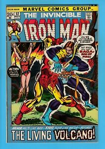 IRON MAN # 52 VFN (8.0) MARVEL 'PICTURE-FRAME' CVR- HIGH GRADE CENTS COPY- 1972