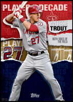 Mike Trout 2020 Topps Player of the Decade 5x7 Gold #MT-4 /10 Angels