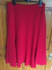 Flared Skirt by M&S Red Size 14