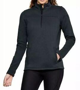 NWT Under Armour 1271618 Women's Navy Tactical Job Long Sleeve Fleece Large L