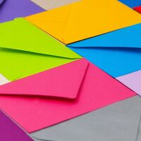 50 x C6 Coloured Envelopes for Invitations 6 x 4 inches - 114 x 162mm - 100gsm