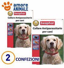 2 COLLARI Beaphar Collare Antiparassitario rosso 65 cm - Durata 4 mesi per cani