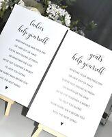 Wedding Toiletry Basket Signs Toilet Signs Basket Signs Venue Decor
