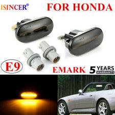 Pair Smoked Side Marker Turn Signal Light FOR HONDA Civic S2000 Del Sol Integra~