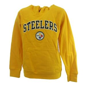 Pittsburgh Steelers Official NFL Apparel Kids Youth Size Hooded Sweatshirt New