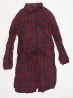 New Look Womens Multicoloured Check  Basic Button-Up Size 8