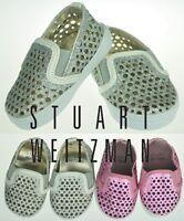 Stuart Weitzman Baby Girls Sneaker/Shoe Silver/Red Soft Sole US Size 1,2,4  NEW