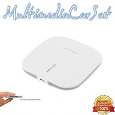 Caricatore wireless charger bianco Fantasy Qi Standard con luce