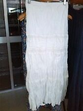 Below Knee 100% Cotton Peasant, Boho Skirts for Women