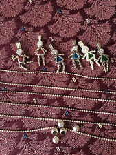 Sterling Silver BIRTHSTONE BABIES charms chains, January May December boy girl