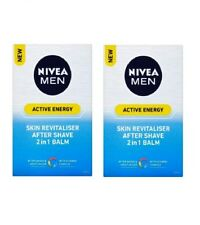 2x Packs NIVEA MEN ACTIVE ENERGY AFTER SHAVE 2-in-1 BALM - 100 ml *GERMANY*