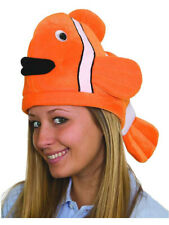Stuffed Plush Clown Fish Nemo Hat Deep Sea Party Cap Costume Accessory
