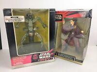 Star Wars Episode 1 Lot Destroyer Droid Room Alarm & Padme Amidala Figure Statue