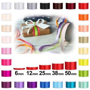 Schleifenband Satin Geschenkband 6/12/25/38/50mm Dekoband Satinband 25 Meter