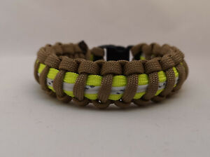 Firefighter Bunker Turnout Gear Thin Red Line 550 Paracord Bracelet